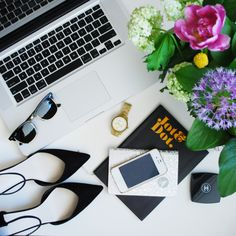 Instagram: themavric home desk styling. Flat lay.