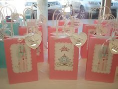 These are adorable Princess Party gift bags.  I could recreate with different theme.