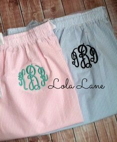 Monogrammed Pajama Pants