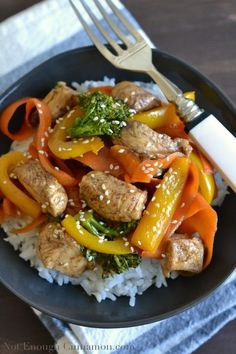 An quick and easy recipe for 5-spice chicken with vegetable stir-fry. Ready in 30 minutes and healthy.