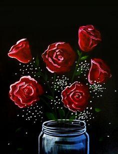 Rose Bouquet at Orchid Thai - Midtown Sacramento - Paint Nite Events near Sacramento, CA