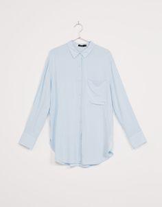 Oversized overhemd, - Overhemden - Bershka Netherlands