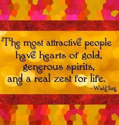 Most attractive people quote via www.WishHunt.com