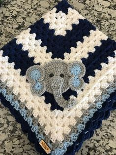This is a fun and easy baby blanket tutorial using 2 big balls of Bernat Baby Yarn in a bulky, chenille type yarn making it super soft and spongy but still light weight. Baby Blanket Size, Baby Boy Crochet Blanket, Crochet Baby Hats, Crochet Blanket Patterns, Crochet Gifts, Baby Knitting, Baby Patterns, Handmade Baby Blankets, Baby Boy Blankets