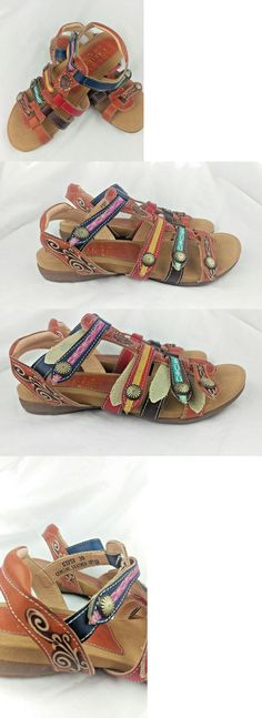 4562b55ec10c18 Sandals and Flip Flops 62107  New L Artiste Gipsy Style Leather Adjustable  Straps Womens Sandals 8.5 Us 39 -  BUY IT NOW ONLY   59.99 on eBay!