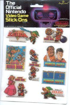 Nintendo stickers