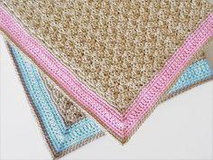 Crochet baby blanket Choose for boy or girl