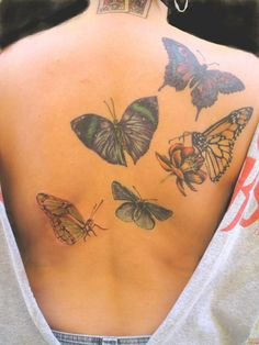 Jesse's Butterfly Garden by Tat2dMayMay - 50+ Amazing Butterfly Tattoo Designs | Art and Design