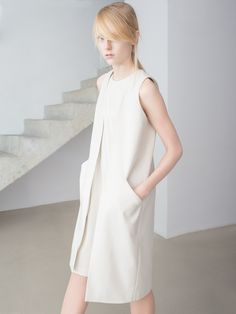Long Vest, THISISNON, Raw Silk Collection, photo Kasia Bielska