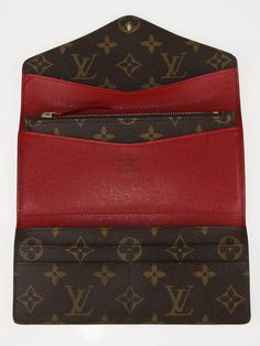 louis vuitton josephine wallet with red interior