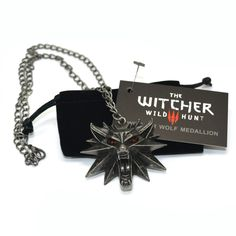 De Witcher 3 Wilde Hunt Medallion Hanger en Collier 1 Zak en 1 Card Groothandel Goedkope Prijs