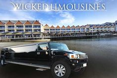 Private Chauffeur Pickup for Limo Hire Mandurah in  a H2 Hummer Limousine