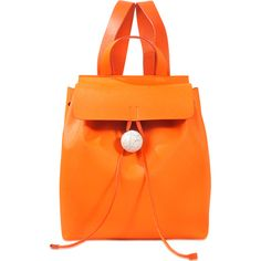 Corto Moltedo Rose backpack (€1.095) ❤ liked on Polyvore featuring bags, backpacks, orange, rose bag, knapsack bag, orange bag, corto moltedo and rosette bag