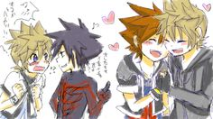 X3 I like the way Ven and Van are reacting! Van looks like he's questioning Ven in a flirty-way to do what Sora and Roxas are doing, to him! And Ven looks soooo embarassed! X3 (My 2 otp's in this picture! Kyaa~) -Shailene