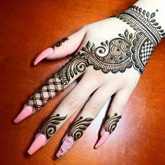 Henna Mehndi Design for beginners Very easy design Henna Hand Designs, Dulhan Mehndi Designs, Latest Arabic Mehndi Designs, Mehndi Designs Book, Modern Mehndi Designs, Mehndi Designs For Beginners, Mehndi Designs For Girls, Mehndi Design Photos, Mehndi Designs For Fingers