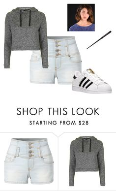 """Annabelle Potter"" by oomfoveryou ❤ liked on Polyvore featuring LE3NO, Topshop and adidas"