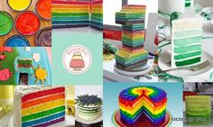 Bolos coloridos por dentro são diferentes e sempre causam surpresa e curiosidade entre os convidados.Veja as dicas e receitas para preparar estes lindos e divertidos bolos.