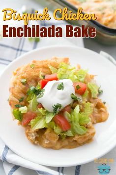 Bisquick Chicken Enchilada Bake recipe from The Country Cook Chicken Enchilada Bake, Ranch Chicken Casserole, Chicken Enchiladas, Enchilada Casserole, Easy Baked Spaghetti, Bisquick Recipes, Carbquik Recipes, Country Cooking, Rotisserie Chicken