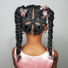 Some new 30 min hairstyle inspiration for the mommys who can not cornrow! I got ya! Some new 30 min hairstyle inspiration for the mommys who can not cornrow! I got ya! Black Toddler Hairstyles, Lil Girl Hairstyles, Natural Hairstyles For Kids, Kids Braided Hairstyles, Black Hairstyles, Trending Hairstyles, Teenage Hairstyles, Hairstyles Haircuts, African American Kids Hairstyles