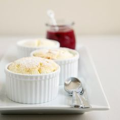 Lemon Souffles With Raspberry Sauce | POPSUGAR Food