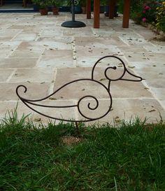 Poule en fer forgé pour décoration de jardin | figuras | Pinterest ...