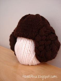 Fiber Flux...Adventures in Stitching: Free Knitting Pattern...Princess Leia Hat
