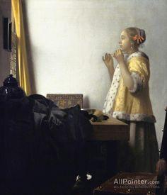 Malkunst Johannes Vermeer Throw Pillow Case