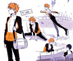 If Hinata's Hobby was Ice Skating. 1st line: morning warm-ups 2nd line: what~ you said you were forbidden to practice