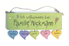 Door sign wood nameplate family door sign hand painted with heart pendant Wooden Door Signs, Front Door Signs, Family Wishes, Wooden Names, Housewarming Party, Family Signs, Shabby, Diy Signs, Name Signs