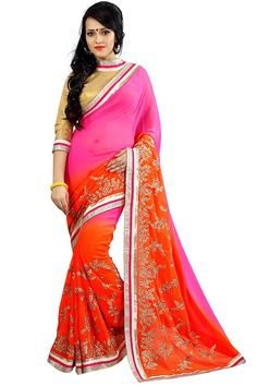 Stylish Designer Party Wear Chiffon Saree