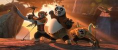 """Po and the legendary Furious Five (left to right, Crane, Tigress, Mantis, Monkey, and Viper) are back in """"Kung Fu Panda 2."""" -- Kung Fu Panda 2: Blu-ray + DVD + Digital Copy Review"""