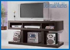 decoraa & muebles - Buscar con Google Rak Tv, Tv Unit Furniture, Tv Sets, Tv Cabinets, Bar, Ideas Para, Shelves, Google, House