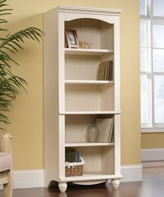 Take a look at this White Antique Harbor View Bookshelf by Sauder on #zulily today!