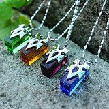Sword Art Online Crystal Necklaces Blue, Green, Purple, and Orange