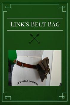 belt, bag, wii, u, link, cosplay, legend, of, zelda, leather, diy, sewing