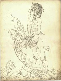 """""""Austin Osman Spare was an artist, philosopher and occult magician. Like Aleister Crowley with whom he had a brief. Austin Osman Spare, Automatic Drawing, Aleister Crowley, Cult Following, Occult, The Magicians, Magick, Drawings, Artist"""