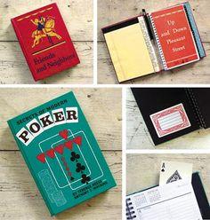 DIY book re purpose idea - turn it into a day planner.