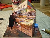 写真模型のペーパークラフト papercraft