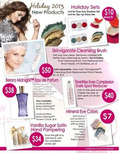 New products! You absolutely have to try the new Skinvigorate Cleansing Brush! Great gifts for everyone on your shopping list, including the most important person...yourself!...just contact me or visit my website: www.marykay.com/atharp5