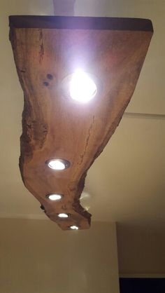 My Diy Live Edge Oak Slab Light Fitting