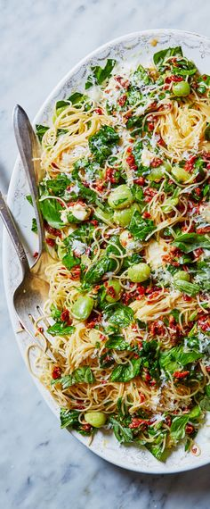 This perfect-for-summer pasta - made with sun-dried tomato pesto, delicate angel hair, buttery lima beans, and fresh mozzarella - comes together in just 20 minutes. That means less meal prep and more time for al-fresco dining. Sign up for Martha & Marley Spoon meal kits to get seasonal recipes and fresh ingredients delivered to your door each week!