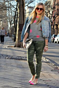 What to Wear with Camo: Pink & Denim