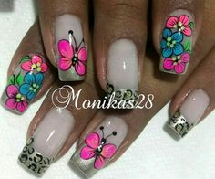 Toe Designs, Nail Art Designs, Cute Nail Art, Cute Nails, Wow Nails, Nails 2017, French Tip Nails, Beauty Trends, Pedicure