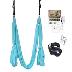 Amazon.com : Aerial Yoga Hammock, Deluxe Premium Silky Anti Gravity Yoga Kit for Home or Studio, Unnata Yoga Bundle : Sports & Outdoors