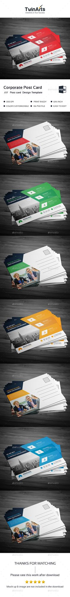 Post Card Template PSD. Download here: http://graphicriver.net/item/post-card/16700382?ref=ksioks