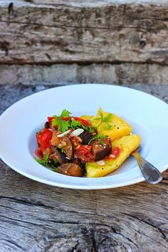 Sicilian Eggplant Caponata + Grilled Polenta Wedges ⎮ happy hearted kitchen