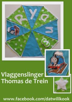 Vlaggetjes slinger Thomas de Trein