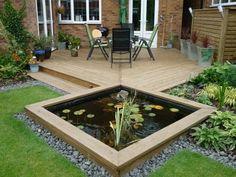 A modern garden pond.