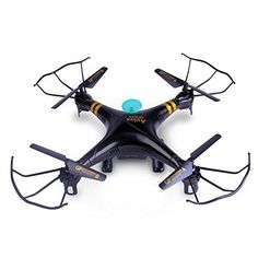 GPTOYS F2 Black Aviax 6-Axis 2.4GHz Quadcopter Remote Contral Drone and Headless Mode (Gift box packing)