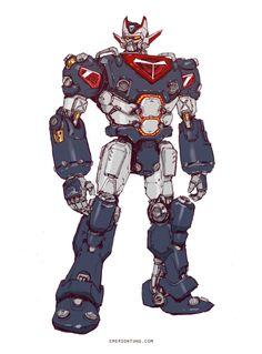 Something Mazinger-esque for today's #marchofrobots Get my artbook SUPER ROBOT BOMBER here:https://tinyurl.com/j7exuzv